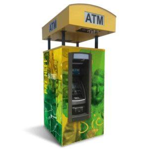 Universal Drive-up ATM Kiosk Enclosure Single Graphic Panel
