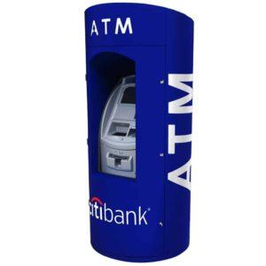 Round ATM Kiosk Wrap