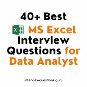 excel interview questions for data analyst