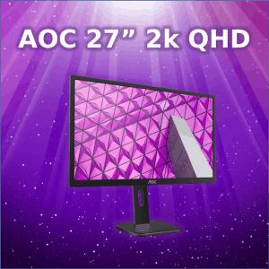 "AOC 27"" 2k QHD monitor we sell in Wagga"