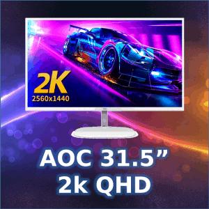 "AOC 31.5"" 2k QHD monitor we sell in Wagga"