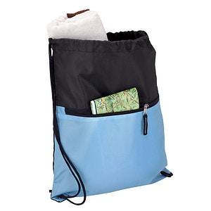 buy Drawstring Sport Bag with Zip Pocket - 210D