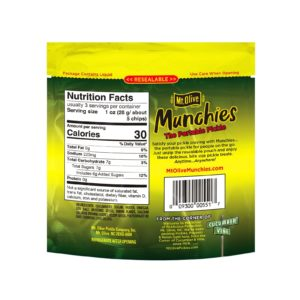 Back View of Mt. Olive Munchies Bread & Butter Chips