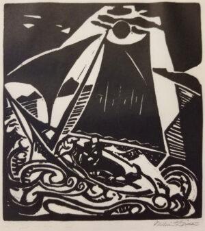 William Zorach, Sailboat, 1919 - original print