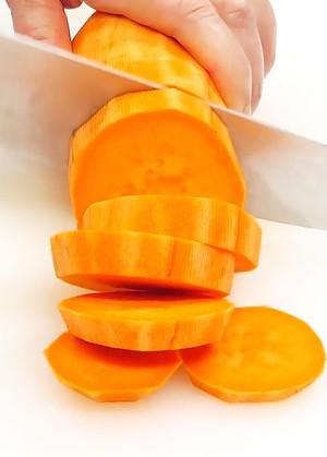 Slicing Sweet Potato