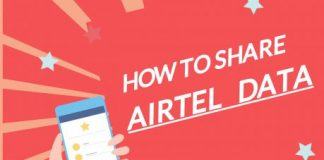 How to share Airtel data