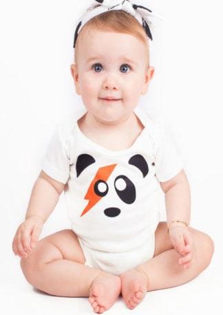 Ziggy Stardust Baby Grow, Short Sleeved David Bowie Bodysuit