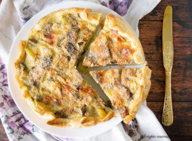Torta salata patate e melanzane Bimby