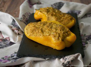 Peperoni ripieni di seitan Bimby