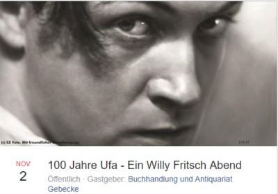 Lesung Willy Fritsch Quedlinburg 100 Jahre Ufa