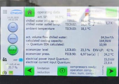 Chiller control panel at Weener Plastics Factory