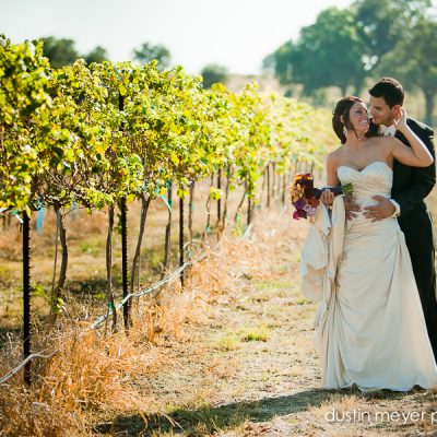 Austin wedding photographer captures this stunning wedding portrait at the vineyard wedding located at the Vineyard at Florence by Dustin Meyer Photography.