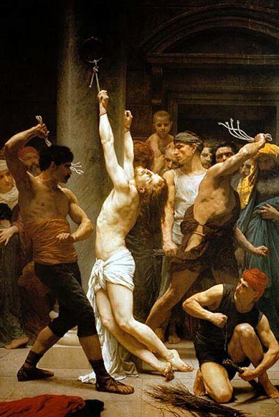 Segundo Misterio Doloroso: La flagelación de Jesús atado a la columna
