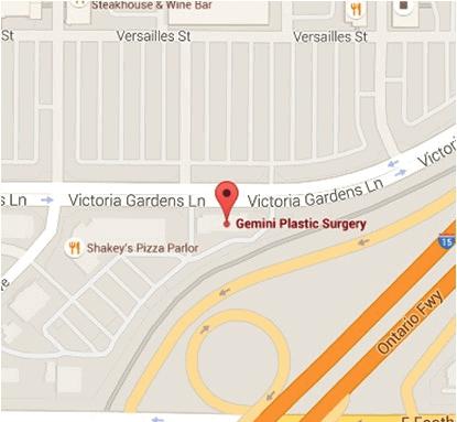 Gemini Plastic Surgery Rancho Cucamonga Address and Directions Information