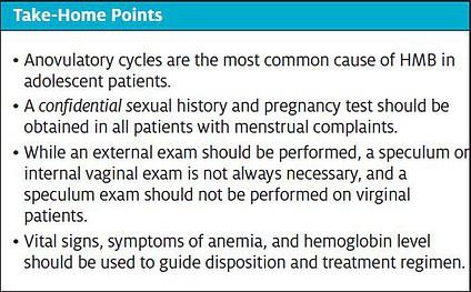 Take Home Points for Heavy Menstrual Bleeding