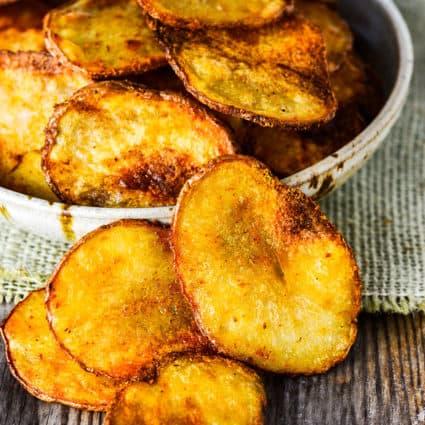 Oven Baked BBQ Potato Chips