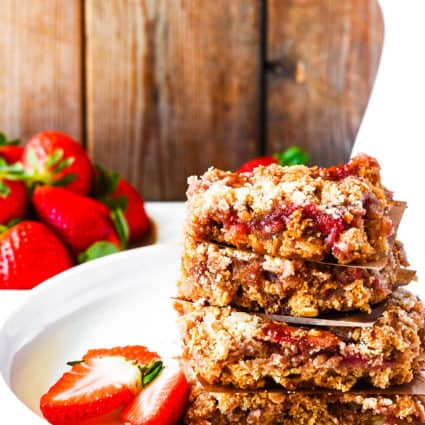 Gluten-Free Vegan Strawberry Oat Bars