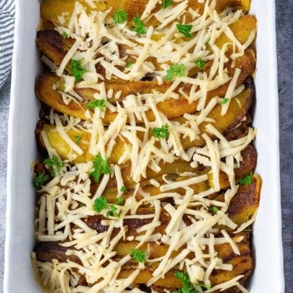 Vegan Pastelon (Plantain Lasagna)