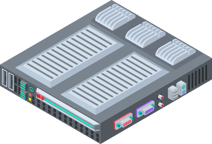 Server that packs itself into a box