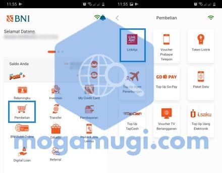Cara Top Up LinkAja Lewat BNI Mobile M Banking
