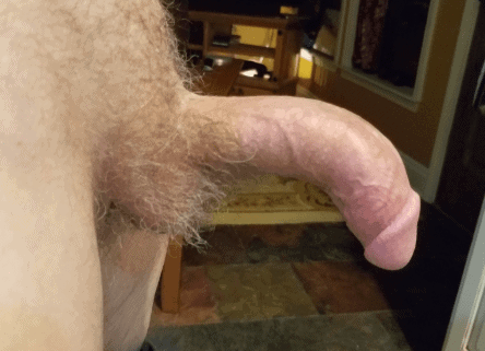 downward curved dick picture