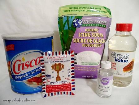 Ingredients to Make Vegan Fondant