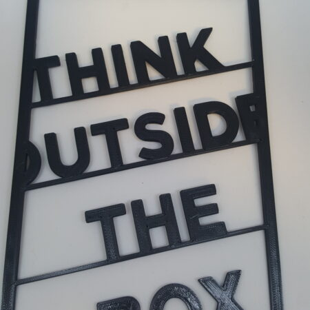 Think Outside The Box – Wall Art