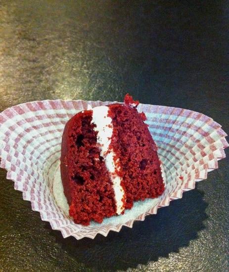 Wedge of Red Velvet Cake
