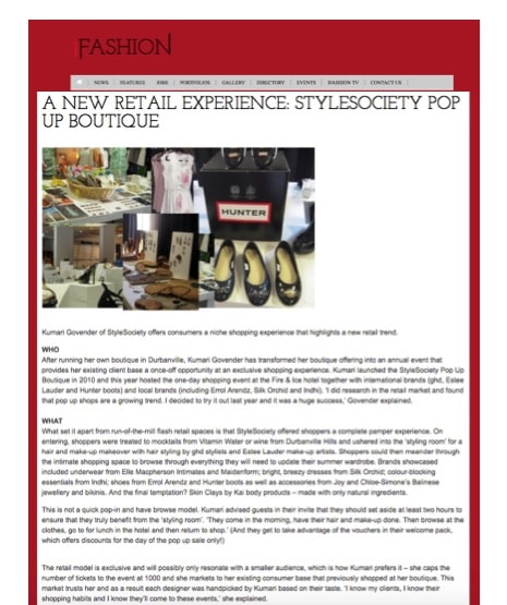 A new retail experience   StyleSociety Pop up Boutique   iFashion