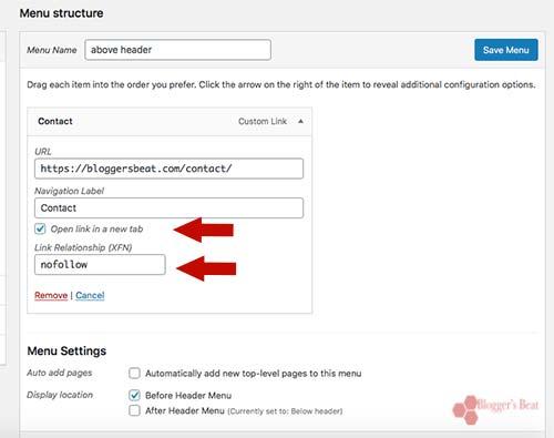 Adding Nofollow Navigation Links In WordPress