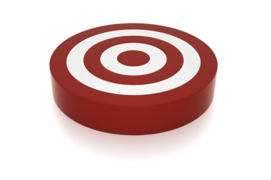 graphic of a red and white target