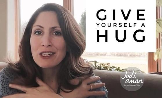 embrace yourself give yourself a hug