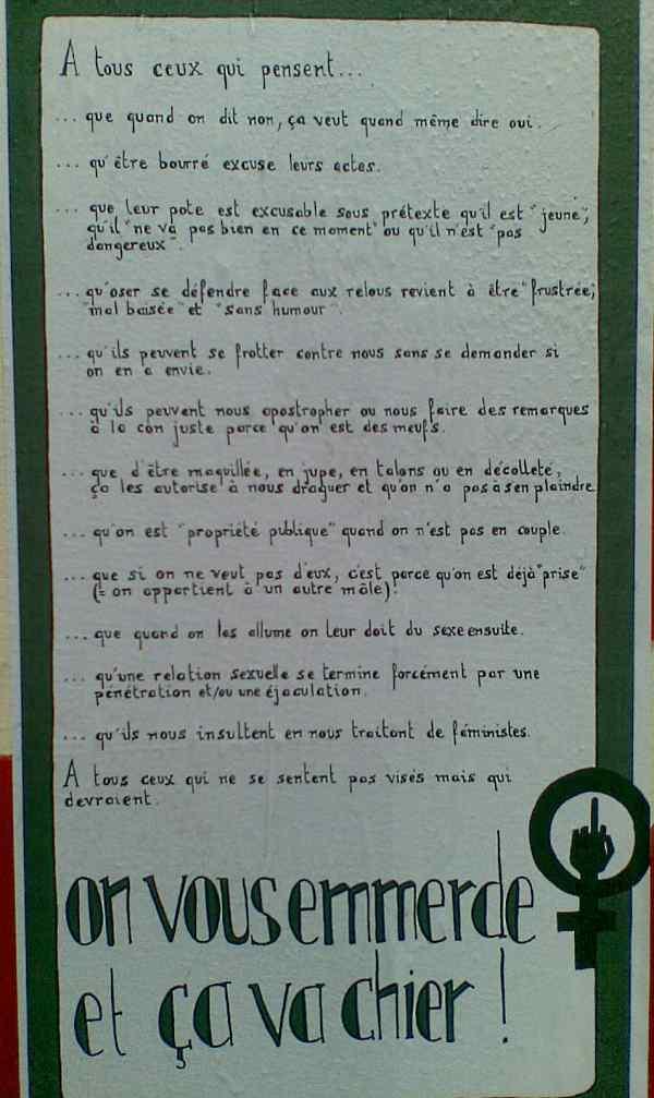 respect anno 2009 op een affiche aan brussel noord