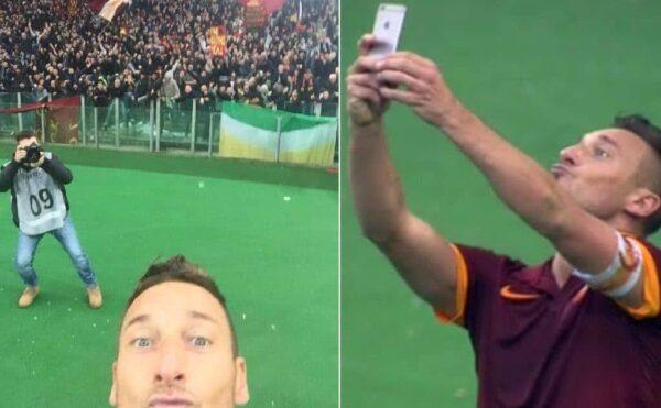 selfie totti