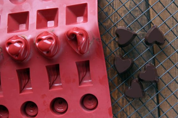 Removing Chocolates from Mold