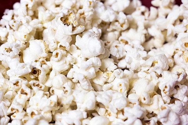 Popped Popcorn Kernels Closeup