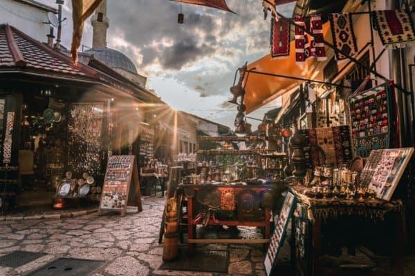 sarajevo, bosnia, market