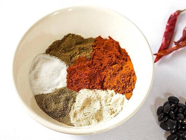 Chili Seasoning Ingredients in Bowl