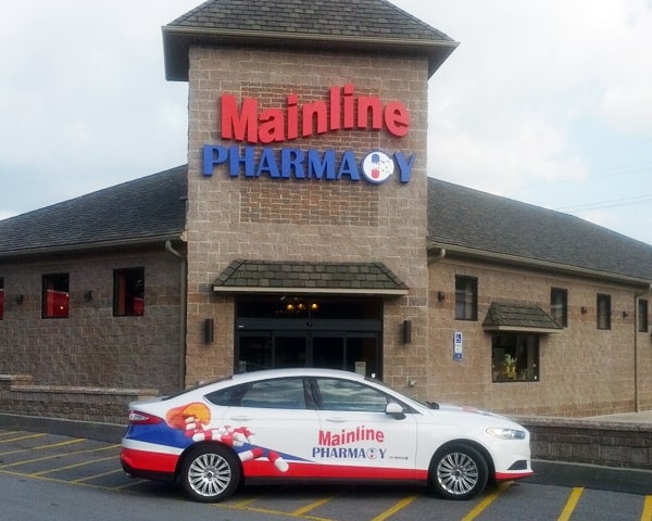 Exterior view of the mainline pharmacy building