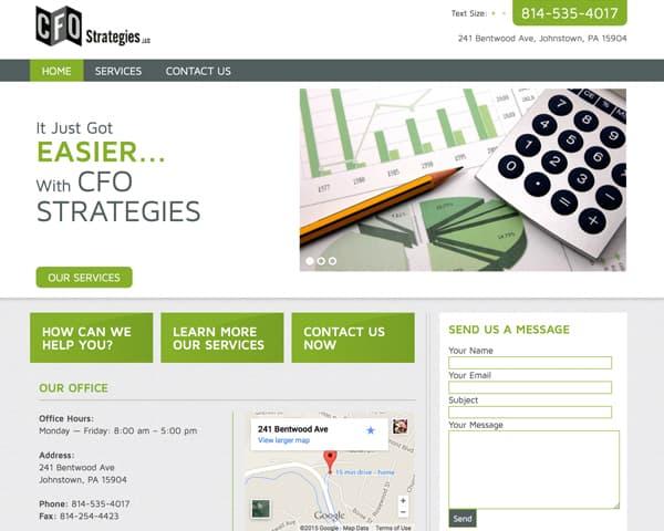 CFO strategies website homepage