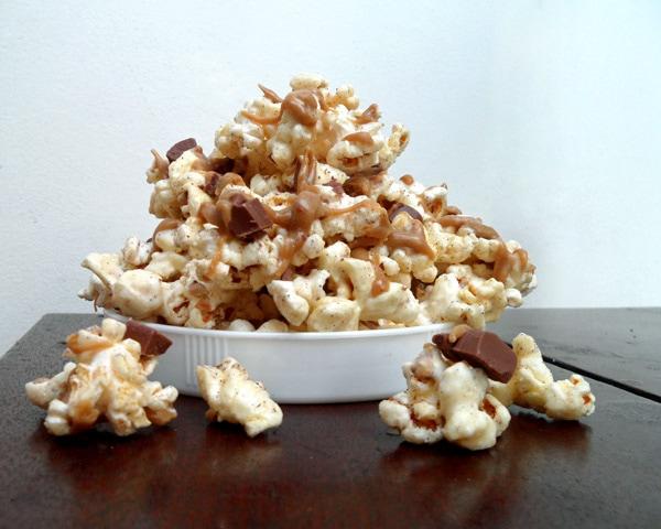 Bowl of Mocha Popcorn