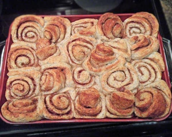 Baked Cinnamon Buns in Dish