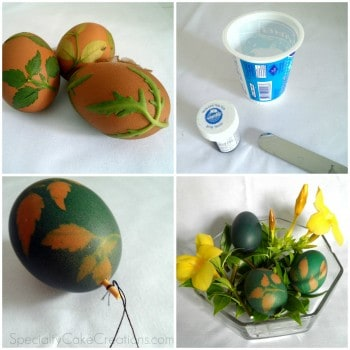Montage of Stenciled Easter Eggs