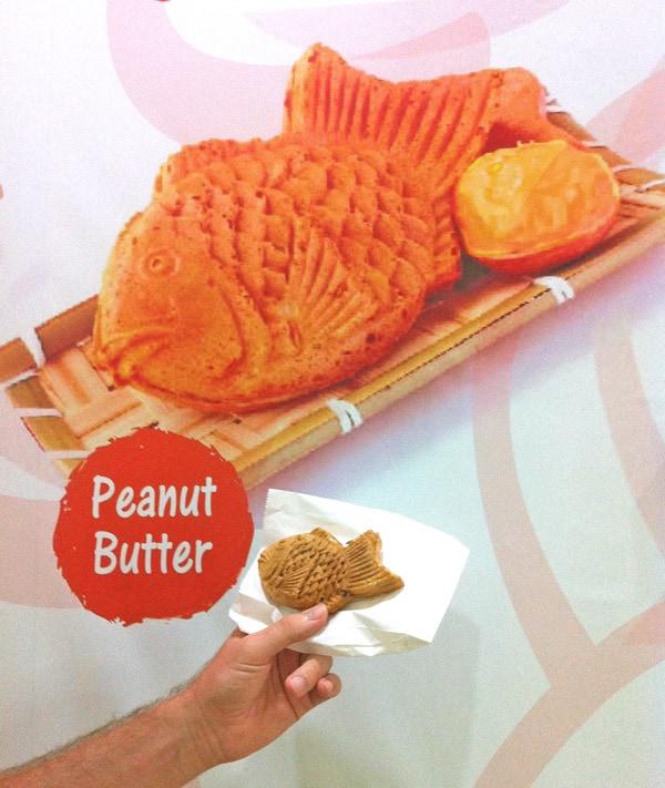 Fish-shaped Peanut Butter Waffle