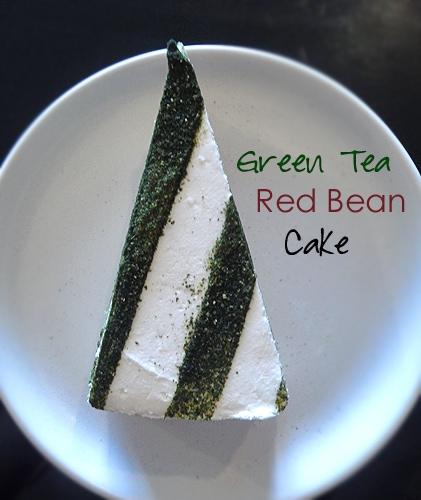 Green Tea Red Bean Cake