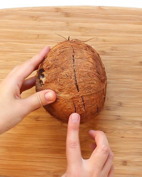 Cracked Shell Fresh Coconut