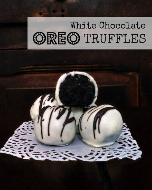 White Chocolate Oreo Truffle Pile