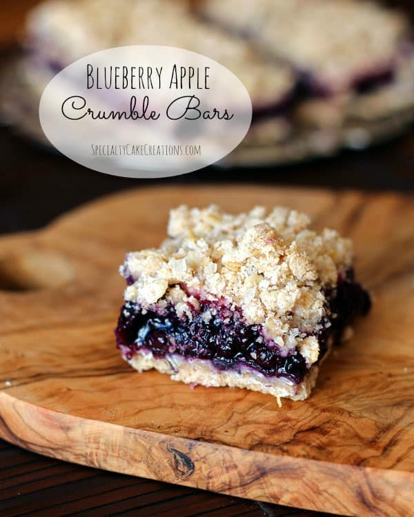 Single Blueberry Apple Crumble Bar