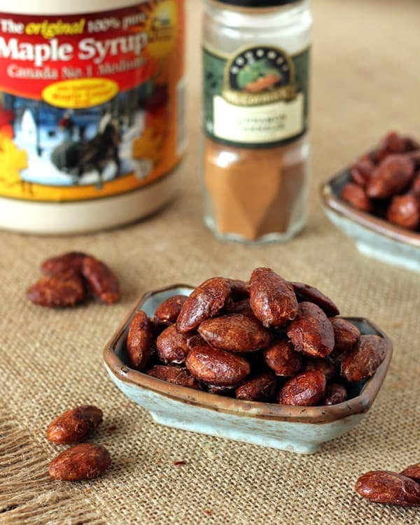 Roasted Almonds with Maple