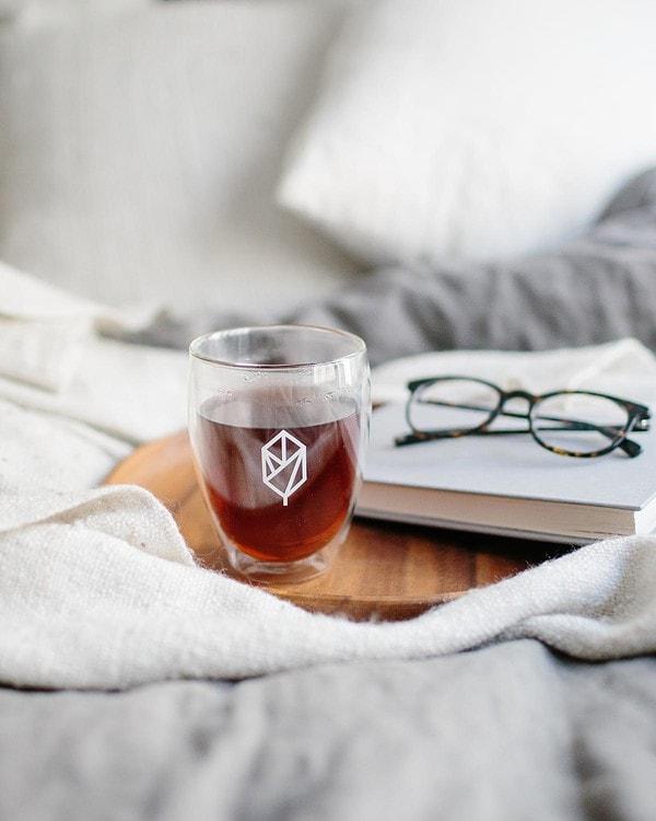 Black Pique Tea in Cup